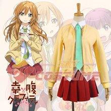 Gourmet Girl Graffiti Shiina High School Uniform Student Coat Cosplay Cardigan Skirt Costume Free Shipping