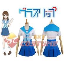 Glasslip Toko Fukami Dress Cosplay Costume Custome Made Bow Tie For Women Girls Pleated Skirt Costumes