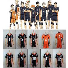 Haikyiu Haikyiuu Number Printed Jersey Velloyball Uniform Anime Cosplay Costume Summer Short Sleeve Sport T Shirt