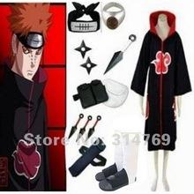 Free Shipping Apparel Naruto Cosplay Costume Naruto Akatsuki Pein Pain Cosplay Costume Set Halloween Costumes Party