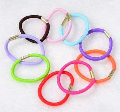 100 pcs lot mixed color hair elastic band rope rubber telephone line elastic hair band hair