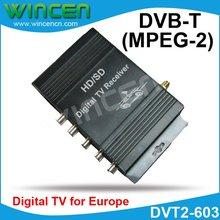 Car DVB T MPEG 2 digital TV receiver for Europe Market