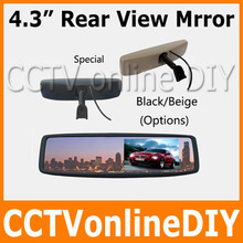 Free shipping Brand New 4 3 TFT LCD Special Rear View Mirror Car Monitor with Bracket