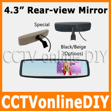 Free shipping Brand New 4 3 TFT LCD Special Rear View Mirror Car Monitor with Touch