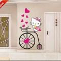 Hello kitty sticker diy wall stickers wall decal wallpaper wall