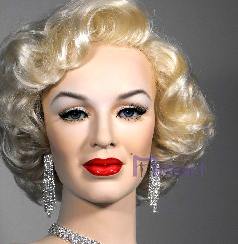 quality marilyn monroe women girl shorty blonde wavy hair wigs for
