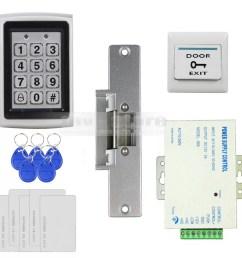 door access control security system kit electric strike lock power magnetic door lock wiring diagram  [ 1000 x 1000 Pixel ]