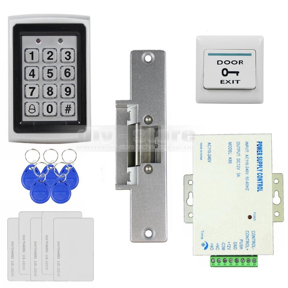 hight resolution of door access control security system kit electric strike lock power magnetic door lock wiring diagram