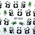 Kawaii designs 6 panda chat lapin toboggan d 233 calcomanies ongles