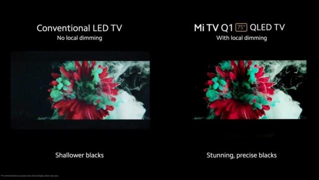 Mi TV Q1 75'', le QLED selon Xiaomi