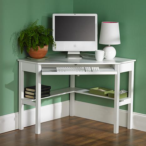 Corner Computer Desk  White  6221913  HSN