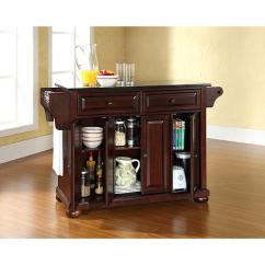 Crosley Kitchen Island Countertops Lowes Alexandria Solid Black Granite Top Vintage Mahogany Finish 7743712 Hsn