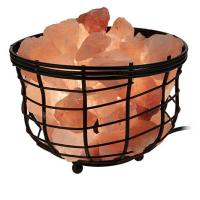 Himalayan Salt Wrought Iron Basket Lamp - 8425177 | HSN
