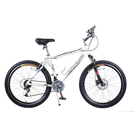 Titan White Knight Men's 21-Speed Mountain Bike with Front
