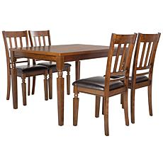 stainless steel chair hsn code over sized chairs dining room furniture safavieh kodiak 5 piece set
