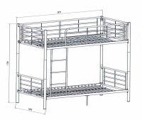 Bunk Bed Dimensions Sketch Coloring Page