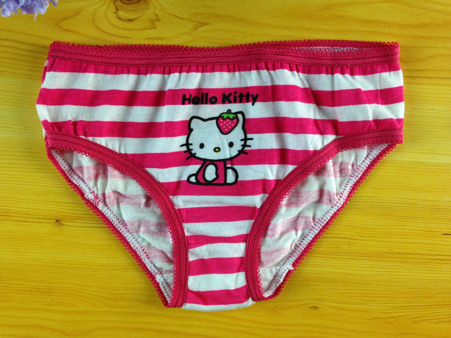 2 Pairs Girls Children Kids Hello Kitty Cute Cotton Pantie
