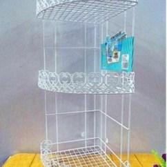 Metal Kitchen Shelf Dinettes 浴室架壁挂_三角三层 卫浴化妆品收纳架 厨房置物 落地壁挂 - 阿里巴巴