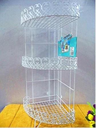 metal kitchen shelves hampton bay cabinets 浴室架壁挂_三角三层 卫浴化妆品收纳架 厨房置物 落地壁挂 - 阿里巴巴