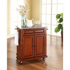 Portable Kitchen Cart Designers Long Island Crosley Solid Granite Top Classic Cherry Finish 7743745 Hsn
