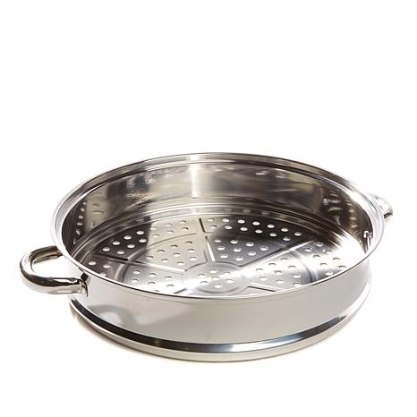steamer kitchen faucet with handspray simply ming stainless steel 12 jumbo basket 8249647 hsn