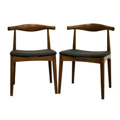 Accent Dining Chairs Farm Table With Sonore Solid Wood Mid Century Style Chair Set Of 2 6439708 Hsn