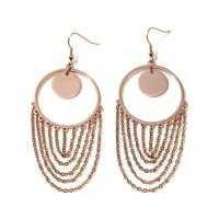 "Stately Steel ""Fringe"" Drop Round Hoop Earrings - 8249604 ..."