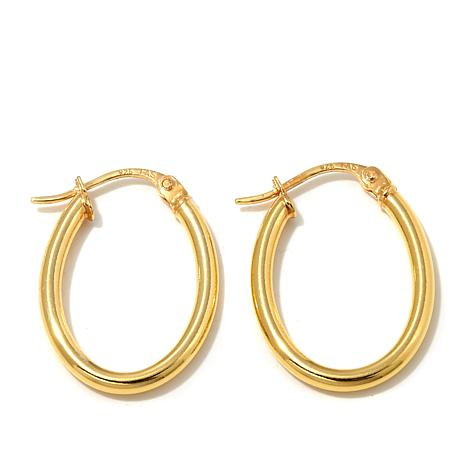 """Technibond 3/8"""" Small Oval Hoop Earrings"""