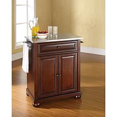 crosley kitchen island farmhouse cabinets for sale islands carts hsn stainless steel top portable