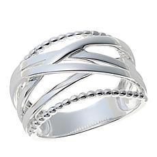 sevilla silver crisscross band