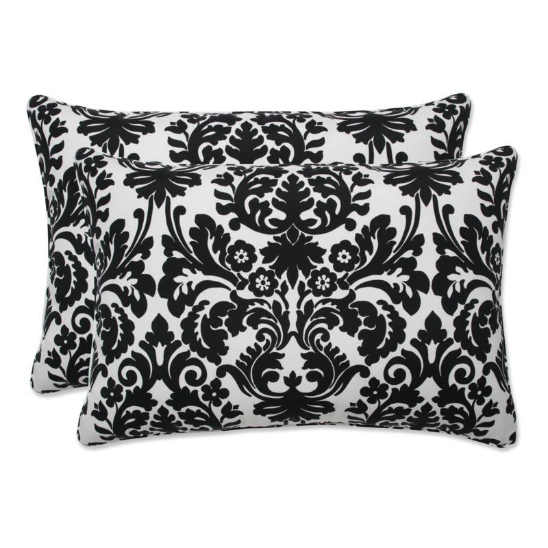 pillow perfect set of 2 outdoor essence rectangular throw pillows black beige