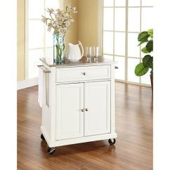 Stainless Steel Kitchen Cart Shears Crosley Top Portable White 7743739 Hsn