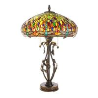 Dale Tiffany Dragonfly with Jewel Tiffany-Style Lamp ...
