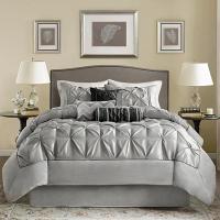 Madison Park Gray Laurel Comforter Set