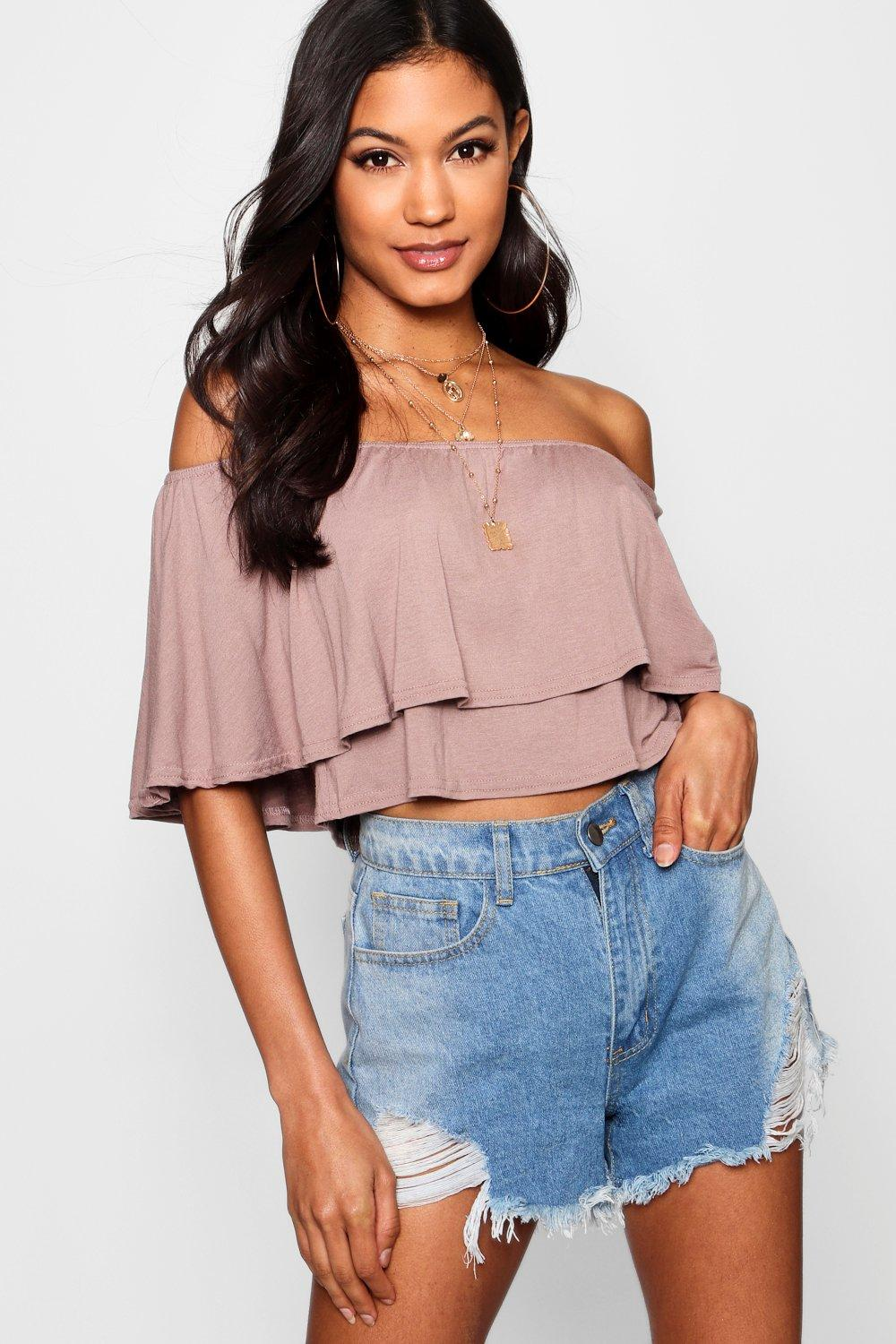 Women's Off the Shoulder Crop Top