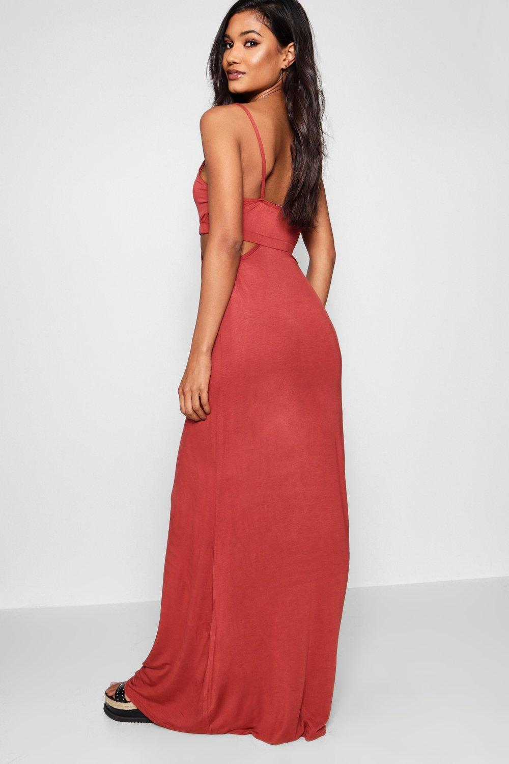 Strappy Cut Out Maxi Dress