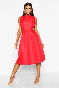 Boohoo Womens Sana Boutique High Neck Prom Dress   eBay