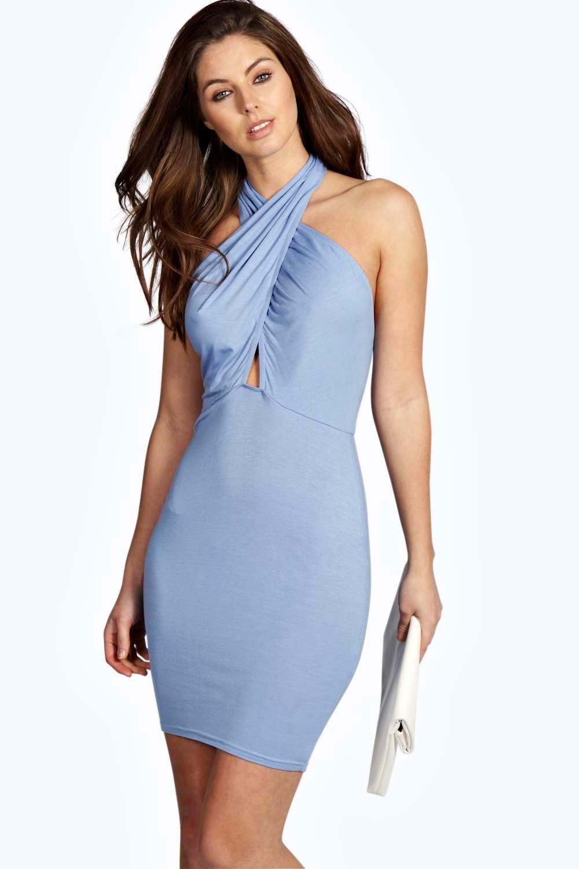 Wrap Halter Neck Dress