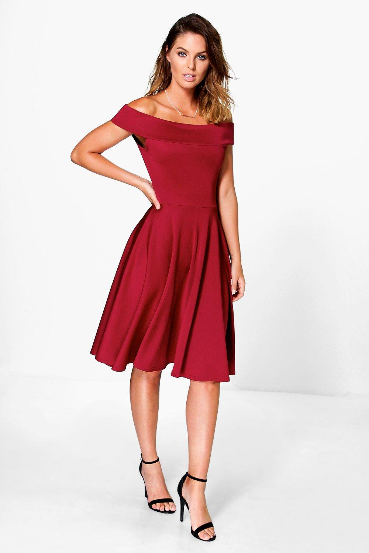 Off the Shoulder Midi Dresses for Women