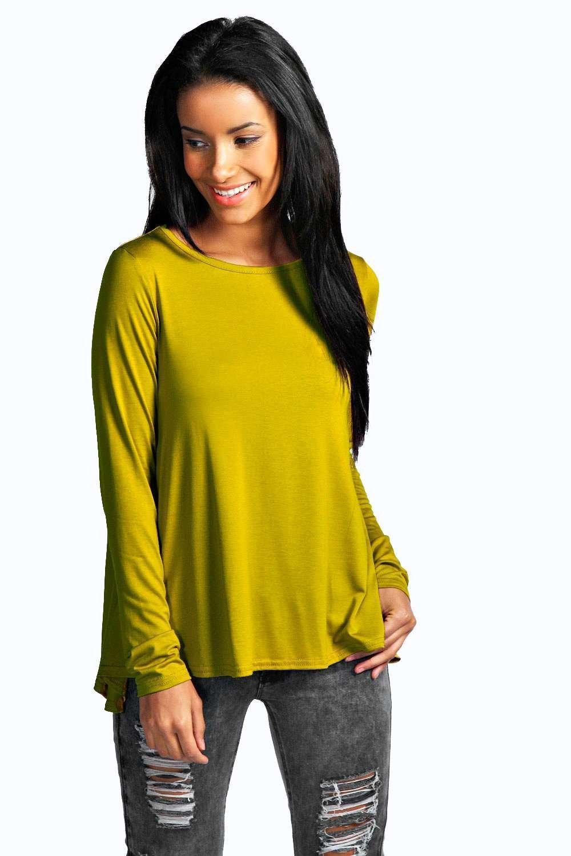 Boohoo Womens Charlotte Long Sleeved Top Ebay