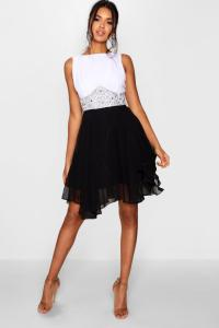 Boohoo Womens Boutique Amy Flower Detail Contrast Prom ...