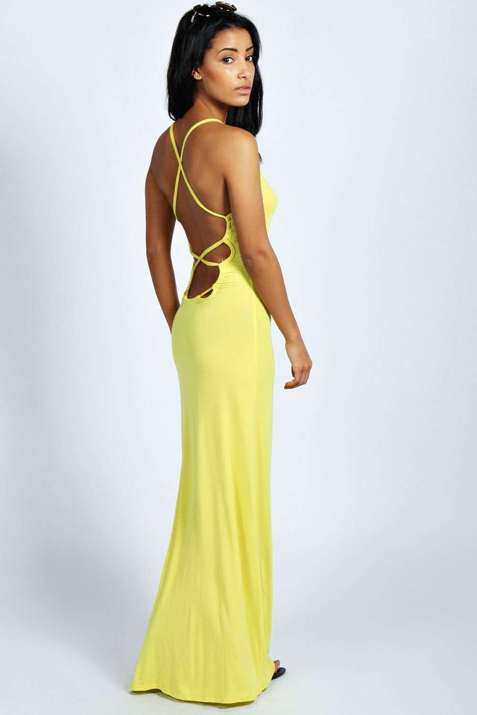 Yellow Strappy Maxi Dress