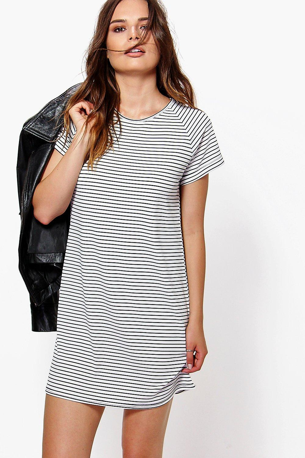 Striped T-Shirt Dresses for Women