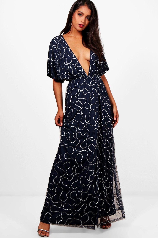 Tie Back Dress Sequin