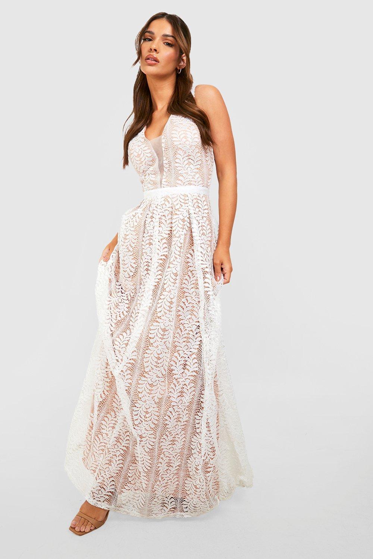 Ali All Lace Plunge Neck Maxi Dress Boutique