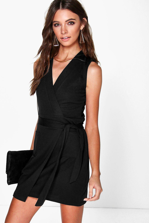 Women's Sleeveless Wrap Dress