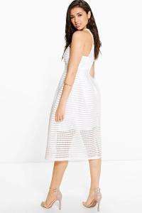 Boohoo Womens Boutique Leah Shaped Neck Prom Dress   eBay
