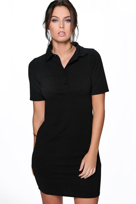 Boohoo Womens Carinna Polo Shirt Dress
