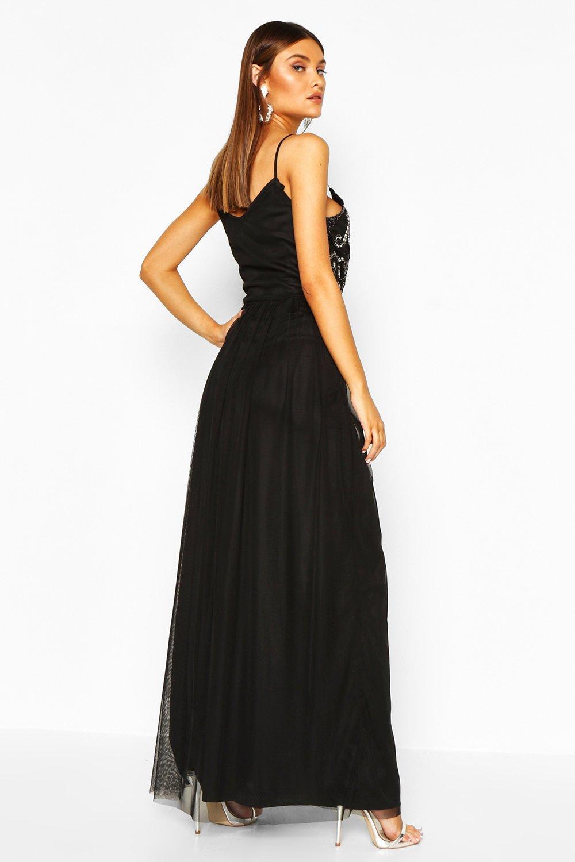 Embellished Maxi Dress Evening