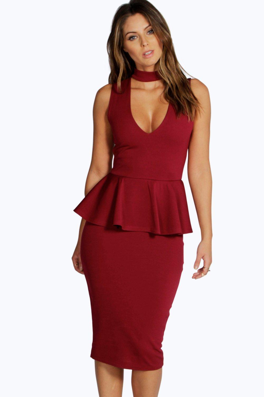 Cut Out Peplum Dress
